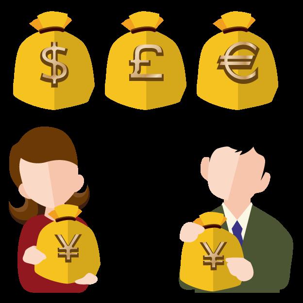 外貨預金のイメージイラスト